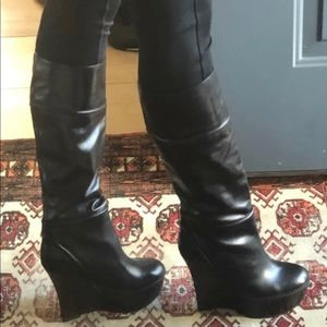 Marni Tall Wedge Boots